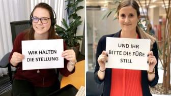 Die Mitarbeiterinnen und Mitarbeiter der Sparkasse Mittelthüringen beteiligen sich an #stayathome.