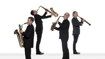 Blåsarsymfonikernas Saxofonkvartett. Foto Mats Bäcker