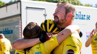 Cykellaget Team Rynkeby och Digital.Tabata ordnar digitalt träningspass för insamling till Barncancerfonden. Foto: Emma Laycock.