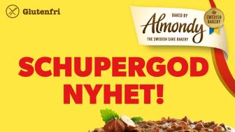 Almondy lanserar älskad chokladklassiker till fikastunden - Mandeltårta med Marabou Schweizernöt