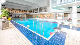 Öjeby simhall öppnar upp 15 juni och har öppet med förbokning av badtider. Foto: Piteå kommun