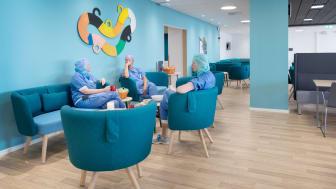 Operationspersonal i lounge_personalrum_Södersjukhuset