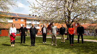 Från vänster: Christine Mulder, Sten Andler, Jianguo Ding, Manfred Jeusfeld, Mathias Mellberg, Tobias Nilsson, Yuning Jiang, Tony Blomkvist