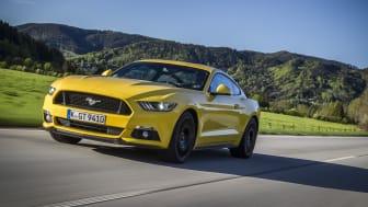 Ford Mustang er verdens mestselgende sportsbil og etterspørselen i Europa fortsetter å øke
