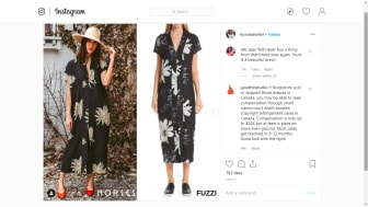 A side-by-side comparison of the two dresses, image from Horses Atelier's Instagram page