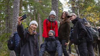 Skogsexkursion. Foto: Andreas Palmén