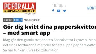 """""""Gör dig kvitt dina papperskvitton – med smart app"""""""