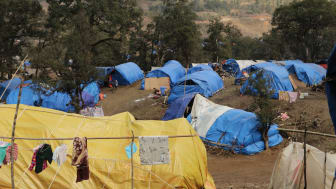Sha It Yang, som ligger på 2000 meters höjd, huserar över 2000 internflyktingar som flytt från delstaten Kachin.