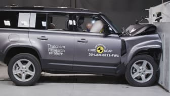The Land Rover Defender received a maximum five-star Euro NCAP rating