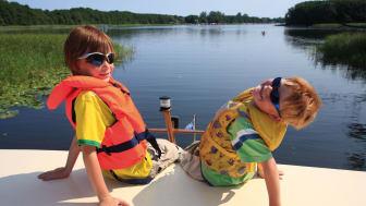 Familieferie på husbåt, Mecklenburgische Seenplatte