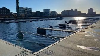 bilde fra den nye båthavnen utenfor Verket Moss