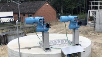 The Rotork CKc electric actuators have been installed at the wastewater treatment plant in place of manual alternatives.