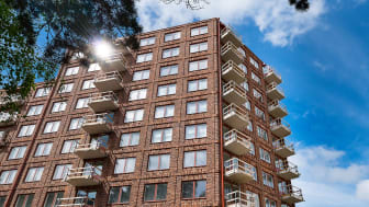 10-våningshuset i Rosendal har Uppsalas 122 första kooperativa hyresrätter. Foto: DP-bild