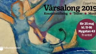 Ingela Bäckman, utbildningsledare för konst- och konsthantverk är ansvarig för Vårsalong 2019 och känner sig mycket nöjd med hela upplägget och är glad över möjligheten att kunna visa upp så många olika konstformer och konstnärers verk.