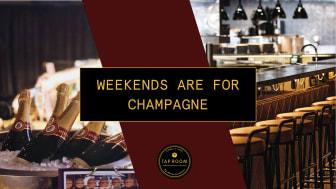 Löningsfredagar firas med champagne på Tap Room Kungsholmen hela våren!