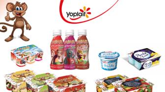 Yoplait har ett brett utbud av mejeriprodukter.