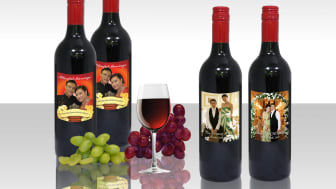 Personalised wine label for wedding event