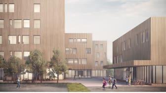 PLANEN: Slik blir nye Vestli skole. Illustrasjon: GASA AS