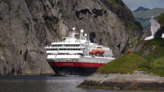 Green investments:  Hurtigruten is the first cruise line company to introduce biogas as fuel for cruise ships.Photo: ULF HANSSON/ Hurtigruten