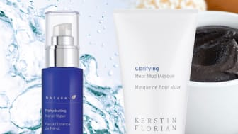 Kerstin Florians ikoniska produkter – Neroli Water och Moor Mud Masque.