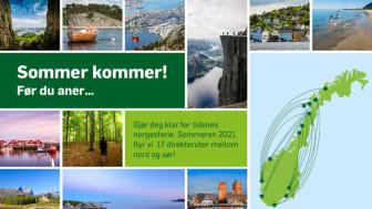 Widerøe lanserer sommerruter fra Sandefjord/Torp