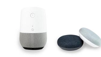 Google Home och Google Mini i NetOnNets lager sen maj 2018