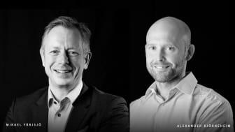 Mikael Färjsjö (t.v) och Alexander Björneheim (t.h)