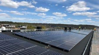 Första installationerna klara i Brf Göteborgshus 38 stora solcellssatsning