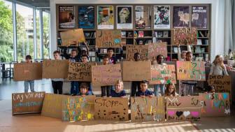 Peter Liversidge, Notes On Protesting, Stockholm, 2018. Foto: Andrzej Markiewicz