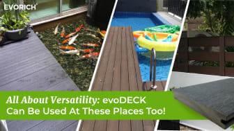 All About Versatility: evoDECK Can Be Used At These Places Too!