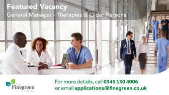 **FEATURED VACANCY** General Manager - Therapies & Older Persons, South East