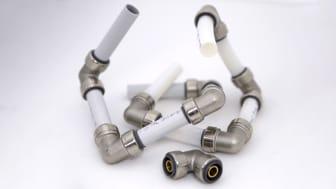 LK Systems tuo markkinoille uuden PushFit-tuotesarjan, joka sopii sekä PE-X- että PAL-putkille