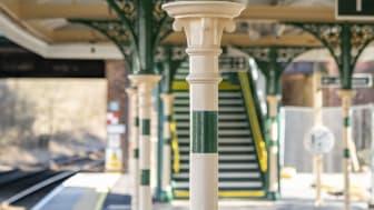 Heritage features at Eridge station, platform 1