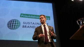 Erik Hedén speaking at the 2013 Award Ceremony