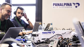 Bosch Hackathon: Panalpina's teams used machine learning to predict estimated time of arrival of trucks and future events while in transit. (Photo from Bosch / Offenblende)