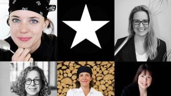 Titti Qvarnström, Ellinor Isaksson, Hanna Halpern, Maria Printz och Karoline Nordefors är juryordförande för Stellagalan.