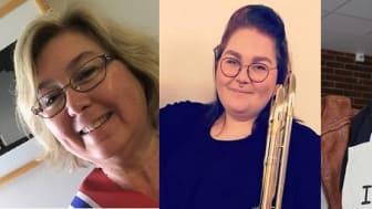 F.V.: Gina Russell, Rebecca Selnæs og Erling J. Myrseth er alle nye i forbundsstyret