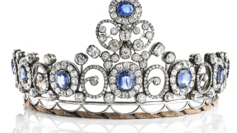 """""""The Russian Sapphire Tiara"""". Sold for: DKK 2 million"""