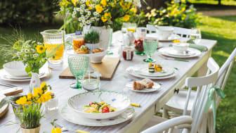 Schneeglöckchen und Schmetterlinge begrüßen den Frühling – Colourful Spring: Frühlingsfrisches Geschirr mit filigranem Dekor