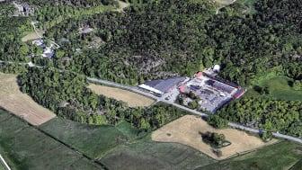 Fastigheten 4:477  i Huddinge. (Bild från Google Earth)