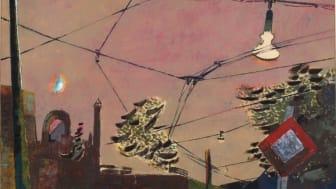VERWENDUNG NUR ONLINE: Gustav Deppe: Sommerabend, aus: Landschaften oberhalb des Gesichtsfeldes (Ruhrstraße in Witten), 1947, Öl auf Papier, 42 x 55 cm, Märkisches Museum Witten © Eric Jobs, Hattingen