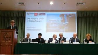 Professor Ignazio Cabras, third from left.