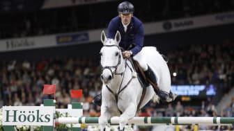 Peder Fredricson på hästen Catch Me Not S trea i världscupfinalen. Foto Anna-Lena Lundqvist