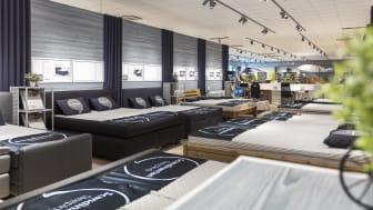 Probebettenbereich in einem Store von DÄNISCHES BETTENLAGER