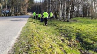 Arbetslag från park- och naturförvaltningen gör vårfint runt om i Göteborg. Foto: Park- och naturförvaltningen