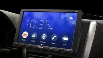 Sonys nya mediemottagare för bilen XAV-AX8050D och XAV-1500
