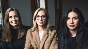 Caroline Janlow, Kristina Lissheim och Lisa Ode från Mäklarsplit.