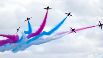 The Red Arrows in flight - Cosford Air Show 2009 - Credit: William Warby (https://www.flickr.com/photos/wwarby/)