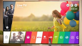 LG INTRODUCERAR NY VERSION AV HYLLADE SMART-TV-PLATTFORMEN WEBOS UNDER CES 2016