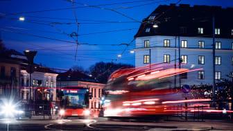 Nahverkehrsbusse in Oslo. Foto: Redink/Krister Soerboe